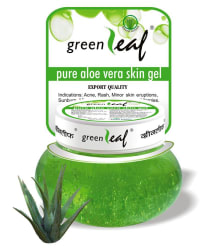 Green Leaf greenleaf Pure Aloe Vera Skin Gel - 500g PACK OF 2 Day Cream 500 gm Pack of 2