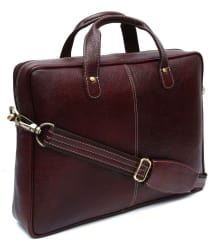 Falcon FI-LB-12-BRN Brown Leather Office Bag/Side Bag