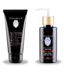 UrbanMooch FACE WASH & CHARCOAL PEEL OF MASK Face Wash 120 gm Pack of 2