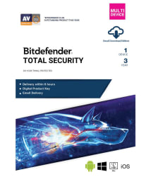 BitDefender Total Security Latest Version (Windows / Mac / Android / iOS) ( 1 PC / 1 Year ) - Activation Code-Email Delivery