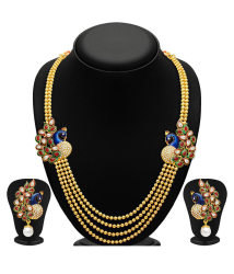 Sukkhi Alloy Gold Plated Kundan Necklace Set + Free Pair of Earrings of Worth INR.199/-