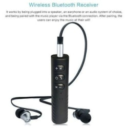 Bluetooth 4.1 Audio Receiver Stereo Hands-free A2DP Music Adapter Wireless 3.5mm Aux Port for Speaker Car MP3 Player Hea