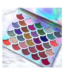 Generic Pro Mermaid Glitter Multicolor Eyeshadow Palette 32 Shades
