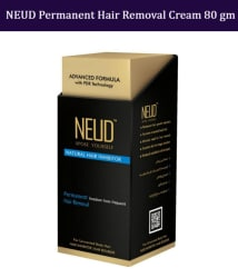NEUD Natural Hair Inhibitor Permanent Hair Removal Cream 80 gm