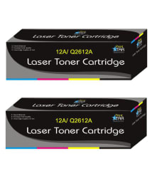 Print Star 12A Q2612A Black Toner Cartridge Pack of 2