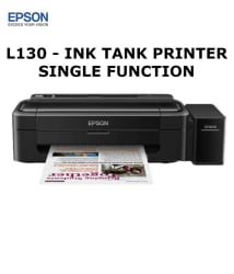 Epson L130 Single Function Color Ink tank Printer (Upgraded version of L110)