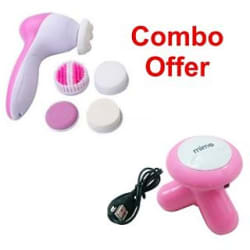 5 in 1 Beauty massager with Mini massager Combo pack