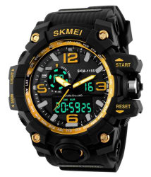 Skmei Black Rubber Analog-Digital Sports Watch