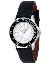 Artek Black Leather Analog Watch