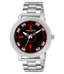 Grandson Silver Analog Watch For Boys