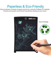 Portronics Portable RuffPad E-Writer 8.5-inch LCD Writing Pad, Stylus Drawing Handwriting Board (POR-628, Black)