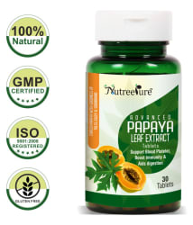 Nutree Pure 1100mg Papaya Leaf Extract Tablet 30 ml Pack Of 1