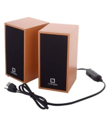 Live Tech SP-08 2.0 Multimedia Speakers - Wooden Black