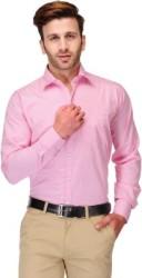 Koolpals Men Striped Formal Pink Shirt