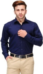 Koolpals Men Solid Formal Blue Shirt