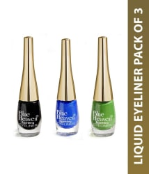 Blue Heaven Liquid Eyeliner Blue, Black & Green Pack Of 3