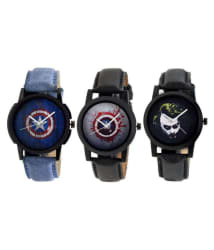 Radian RAD-CO3-SUPER-0001 Super hero series Black and Blue dial Analog gift watch for men boy