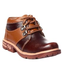Trilokani Brown Shoes for Kids/Boys