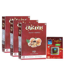 GO Crackers Kashmiri Brown Walnuts (Akhrot) Without Shell - 750 gms (250gm x 3) + Free Saffron 0.25 gm worth Rs 100