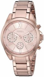 Fossil Rose Gold Dial Stainless Steel Women s Fashion Watch - BQ3036