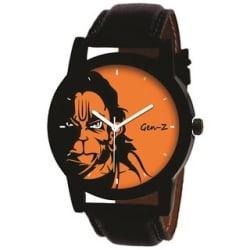 GEN-Z GENZ-SN-HAN-0002 Heavy dial Hanuman Orange Dial Watch for Men