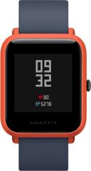 Huami Amazfit Bip Cinnabar Red Smartwatch Blue Strap Regular
