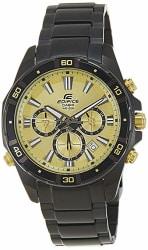 Casio Edifice Chronograph Gold Dial Men s Watch - EFR-534BK-9AVDF (EX173)