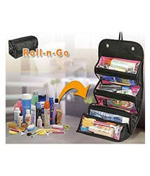 Kemtech Black Roll N Go Make Up Bag Pouch Travel Kit Cosmetic Bag Travel Kit Accessories Toiletry Bag