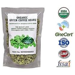 Perennial Lifesciences Organic Decaffeinated Green Coffee Bean 500 Gm For Weight Loss Weight Management