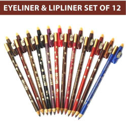 ADS Perfect Eyeliner & Lipliner Extra waterproof Protective Light Dark Marron Color 12pcs