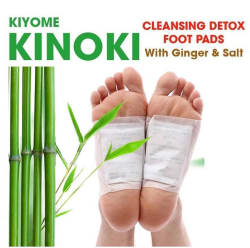Kinoki Cleansing Detox Foot Pads- 10Pcs (Free Size, White) Cleansing foot treatment