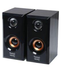 Quantum QHM636 2.0 wooden Speakers - Black For Laptop, computer, Mobiles TV & More