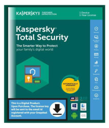 Kaspersky Total Security 2018 ( 1 PC / 1 Year ) - Activation Code-Email Delivery