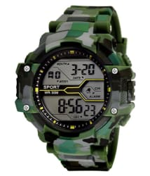 Army Print (Green & Grey) Grandson Kids Digital Watch For Boys & Girls above 8 years of age.