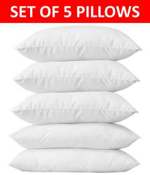 Tanishka Fabs Set of 5 Soft Fibre Pillow (17x27 inch)