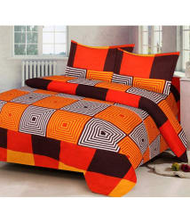 Attractivehomes 3D Double Bedsheet with 2 Pillow Covers