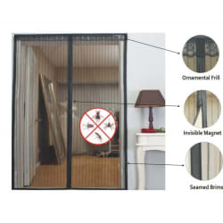 Magic Mesh - Anti Mosquito Magnetic Door Screen(Product Dimension : 90cm x 210cm (standard door size)