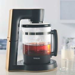 Borosil 1000-Watt Digi Chai Maker (Black)