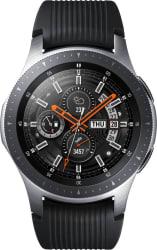 Samsung Galaxy Watch 46 mm Silver Smartwatch (Black Strap Regular)