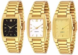 Knack Analogue Black, White & Gold Dial Boy s & Girl s Watch Combo (GL30)