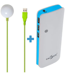 Callmate P3 With USB Led Bulb 15000 -mAh Li-Ion Power Bank Blue