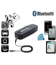 Bluetooth Receiver (USB) - Pair with Computers, Laptops, Car Stereo, Music System, Home Theater System, Compatible with All Android & IOS Devices