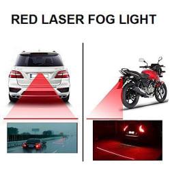 Universal Car & Bike Rear LED Laser Safety Line Fog Light - Red