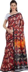 Oomph! Geometric Print Fashion Silk Saree (Multicolor)