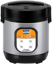 Kent 16019 Electric Rice Cooker(0.9 L, Black, Grey)