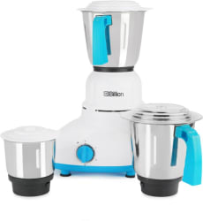 Billion MG110 550 W Mixer Grinder (White, 3 Jars)