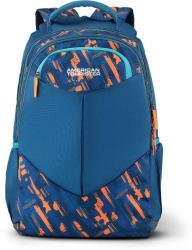 American Tourister Meso Sch Bag 01 30.5 L Backpack (Blue, Orange)