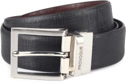 Provogue Men Black, Brown Genuine Leather Belt
