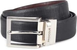 Provogue Men Brown, Black Genuine Leather Belt