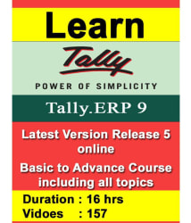 TallyERP9 Release 6 with GST Advance Course online (16 Hrs, Lifetime Subscription) Online Study Material